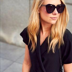 Karen Walker Number One Black Sunglasses